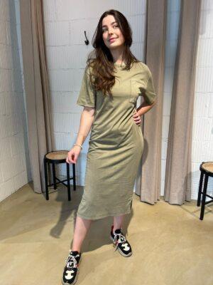Groene Takena jurk Drykorn