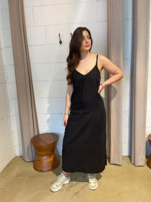 Maxi linen jurk Club L'avenir